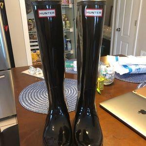 Hunter Boots - original black gloss tall